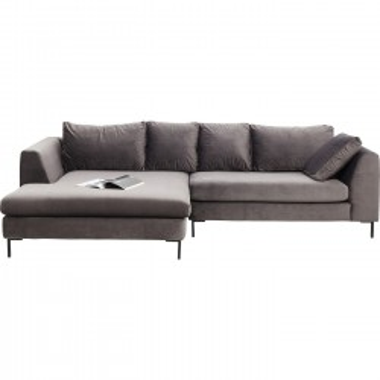 Canapé d'angle Gianna gauche gris Kare Design
