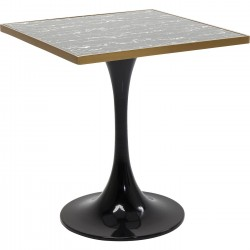 Table San Remo noire carrée 72x72cm Kare Design