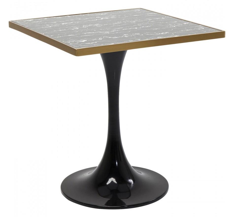 Table San Remo noire carrée 72x72cm Kare Design