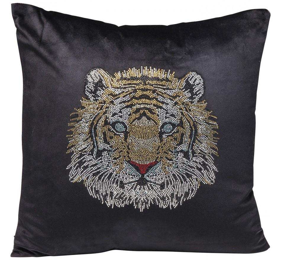 Coussin tête de tigre 45x45cm Kare Design