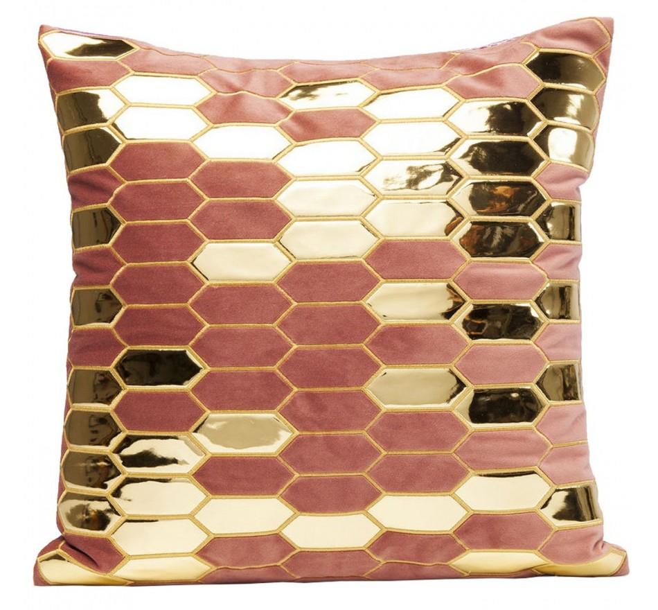 Coussin Nid d'abeille rose 45x45cm Kare Design