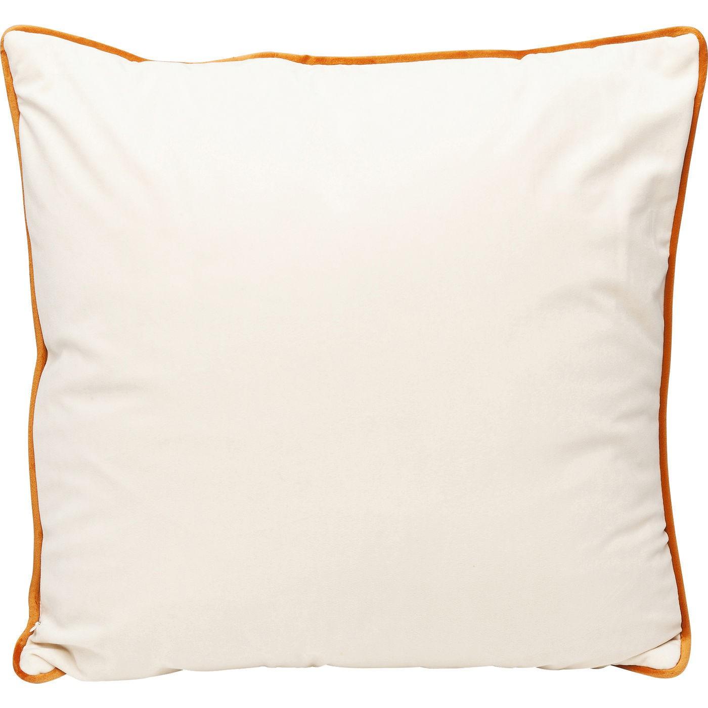 Coussin orange et blanc à sangles Kare Design