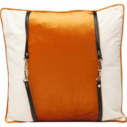 Coussin orange Classy Belt 45x45cm Kare Design