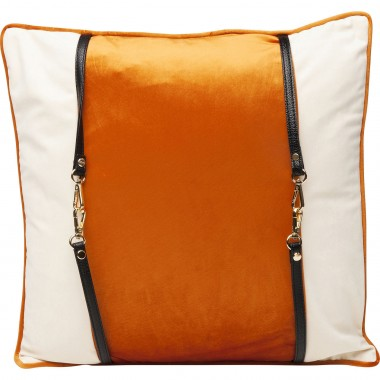 Coussin orange Classy Belt 45x45cm Kare Design
