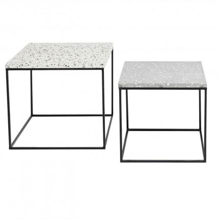 Tables d'appoint Terrazzo carrées set de 2 Kare Design
