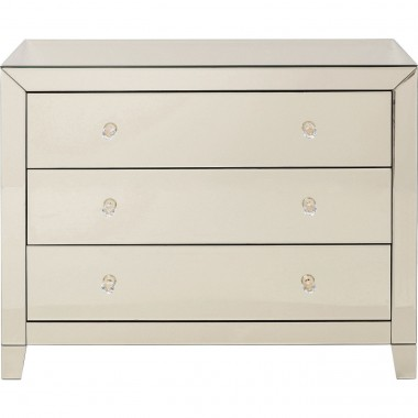 Commode Luxury Champagne 3 tiroirs Kare Design