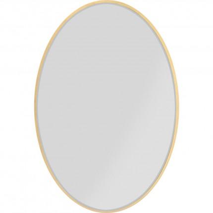 Miroir Jetset ovale doré 94x64cm Kare Design