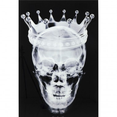 Tableau en verre Crown Skull 120x80cm Kare Design