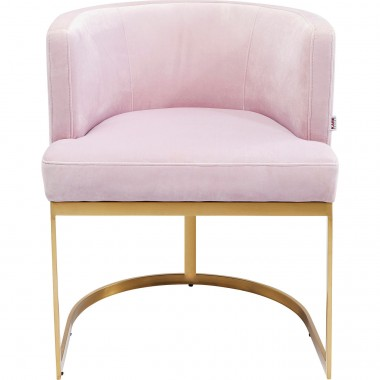 Chaise avec accoudoirs Rumba rose Kare Design