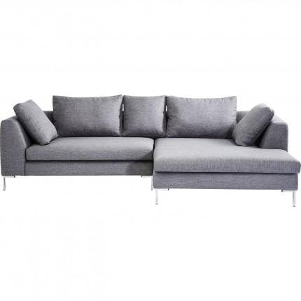 Canapé d'angle Bruno Panini grand gris droite Kare Design