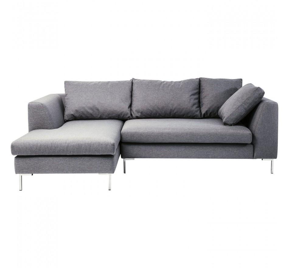 Canapé-lit Bruno Panini petit gris gauche Kare Design