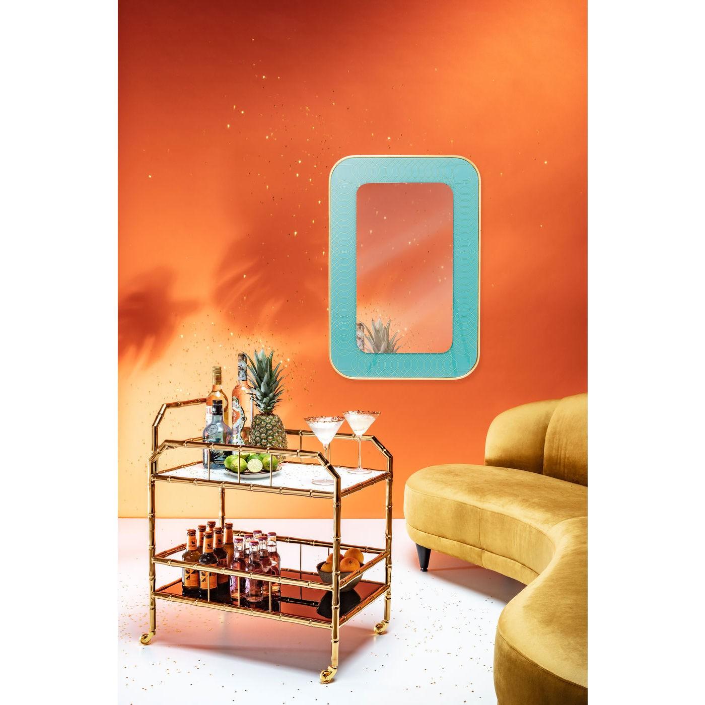 Miroir Revival bleu clair 90x60cm Kare Design