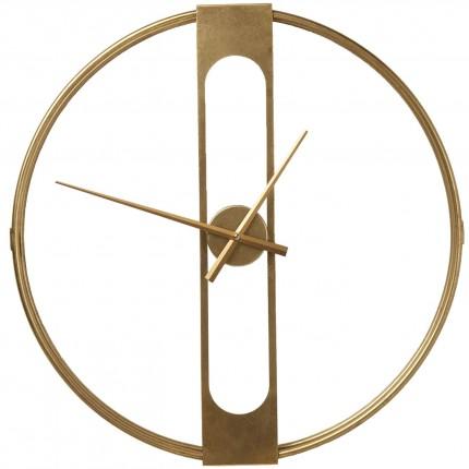 Horloge murale Clip dorée 60cm Kare Design