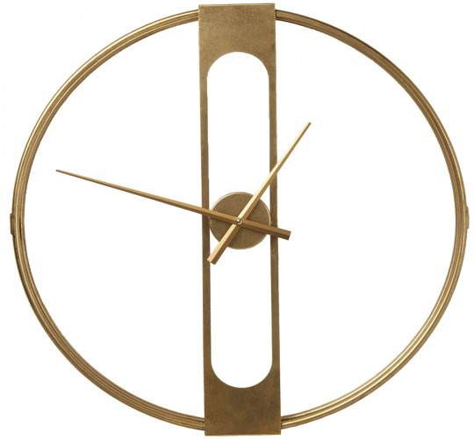 Horloge murale Clip Gold 60cm Kare Design