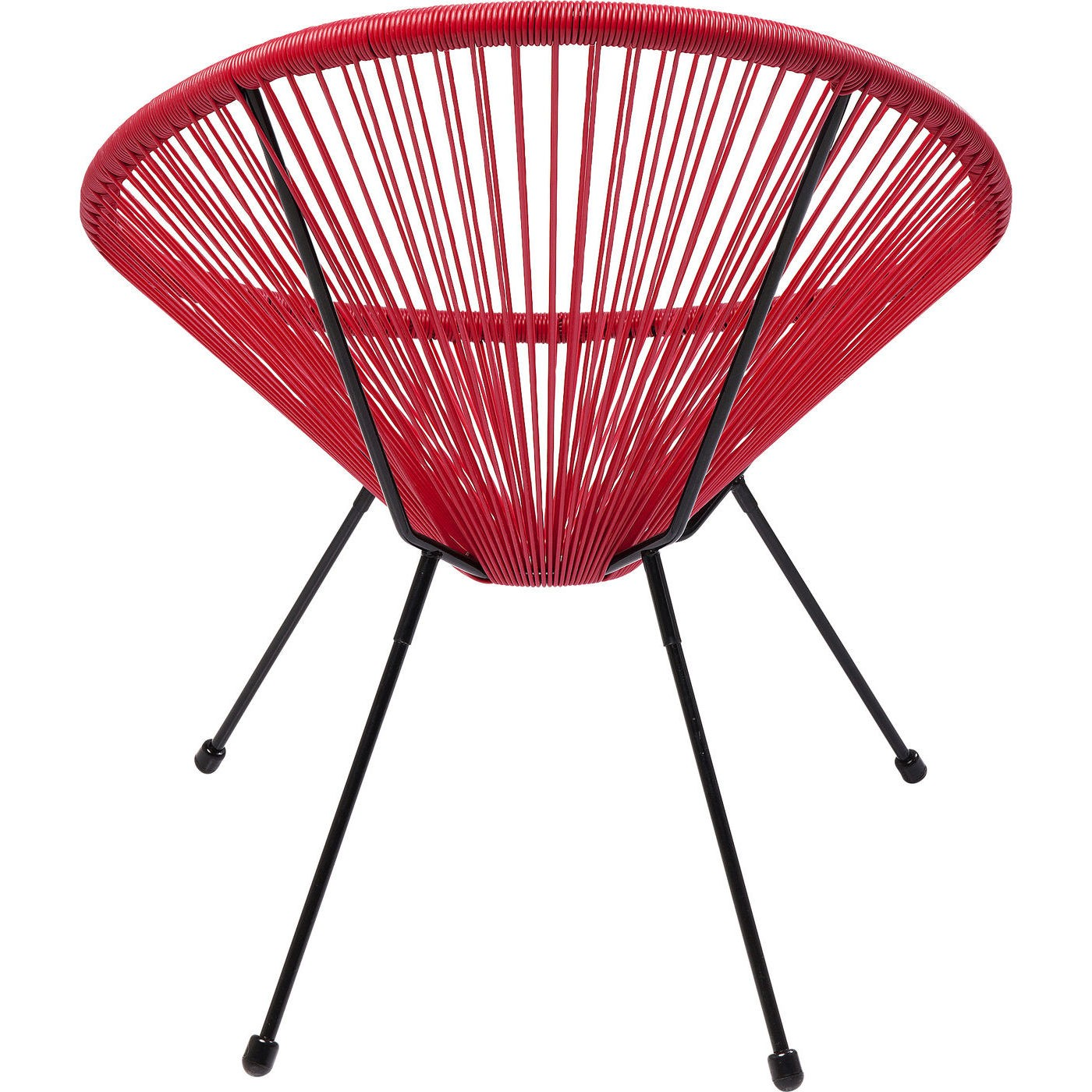 Fauteuil de jardin Acapulco rouge Kare Design