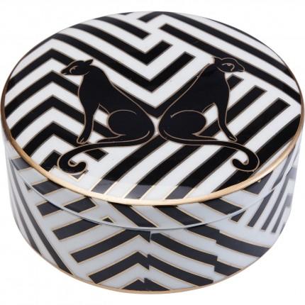 Boîte Panthères noires 17cm Kare Design
