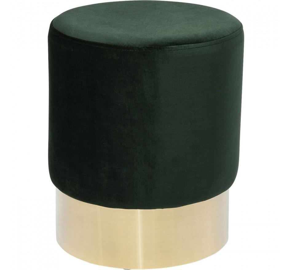 Tabouret Cherry vert et laiton Kare Design