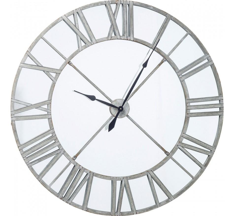 Horloge murale Factory miroir 123cm Kare Design