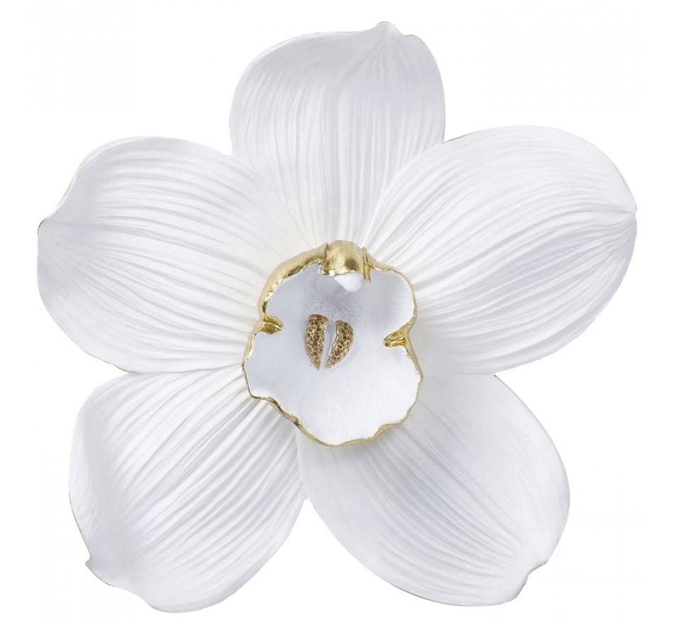 Déco murale Orchidée blanche 54cm Kare Design