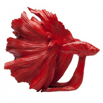 Déco Poisson combattant rouge 34cm Kare Design