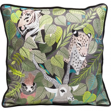 Coussin Animaux exotiques 50x50cm Kare Design
