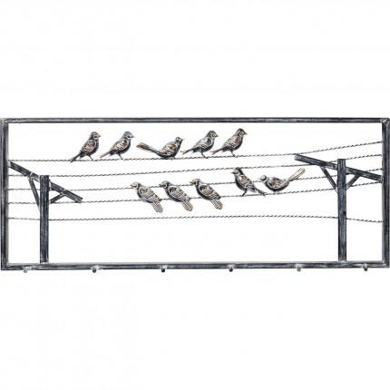 Portemanteau mural Oiseaux 91cm Kare Design