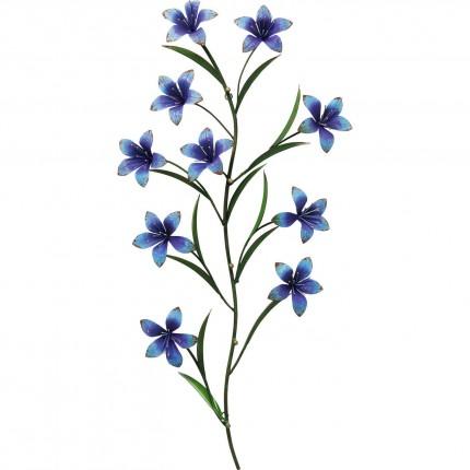 Portemanteau mural fleurs bleues 91cm Kare Design