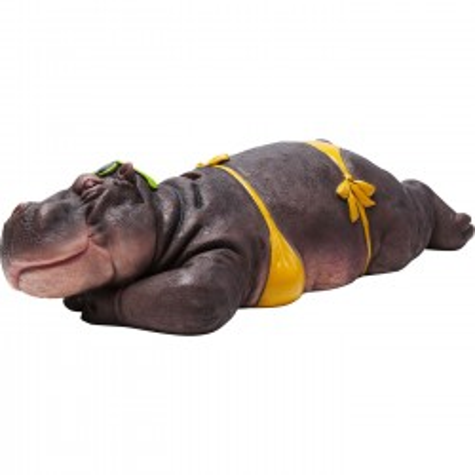 Tirelire Hippopotame à la plage Kare Design