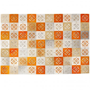 Tapis Patchwork ornements oranges 240x170cm Kare Design