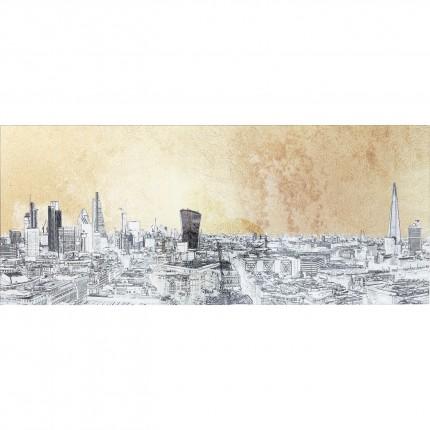 Tableau en verre croquis Londres 50x120cm Kare Design