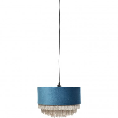 Suspension Tassel bleu pétrole Kare Design