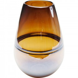 Vase Dallas Belly marron 27cm Kare Design