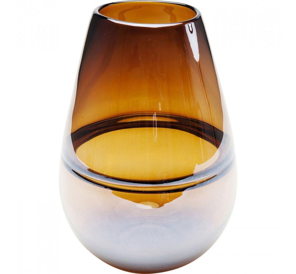 Vase Dallas Belly marron 27cm Kare Design