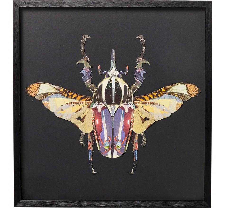 Tableau Frame Art Scarabée 60x60cm Kare Design