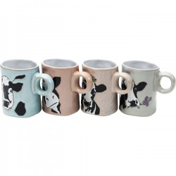 Mugs vaches set de 4 Kare Design