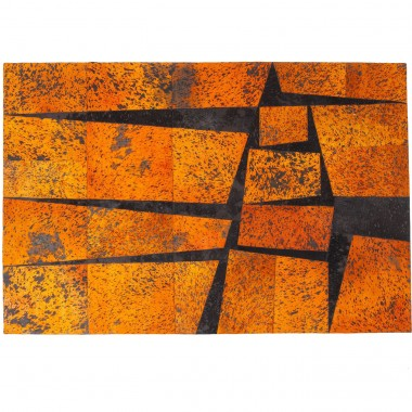 Tapis Blocks orange 240x170cm Kare Design