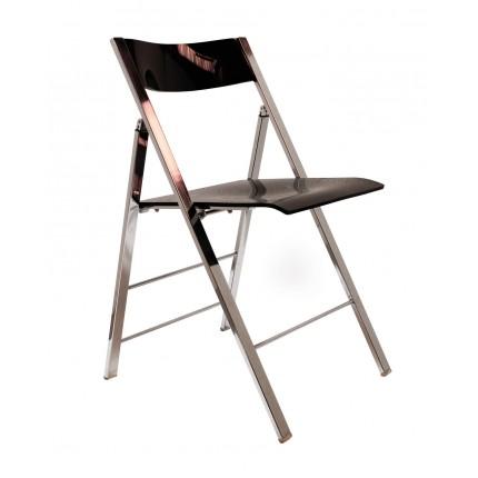 Chaise pliante rétro noire Kare Design
