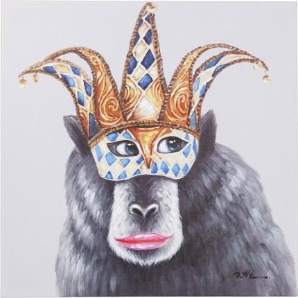 Tableau Touched singe masque 70x70cm Kare Design