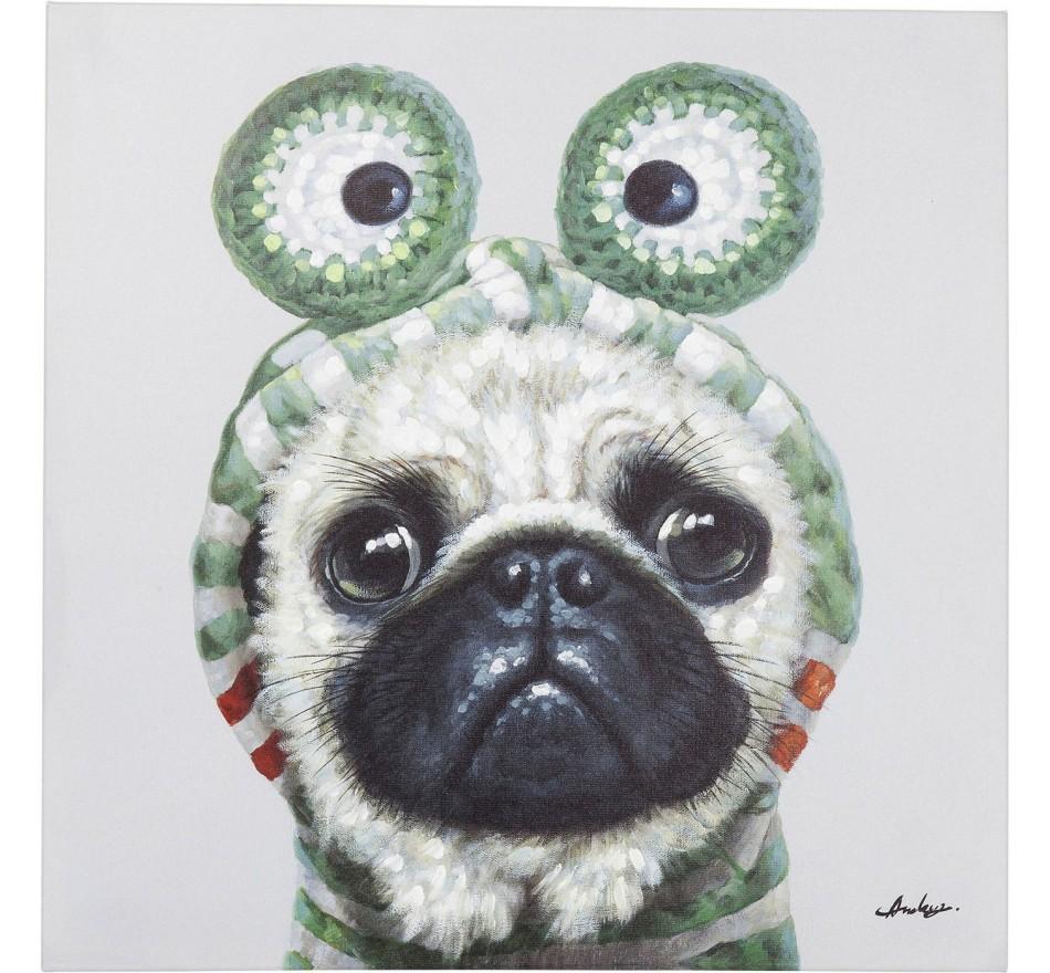 Tableau Touched chien grenouille 70x70cm Kare Design