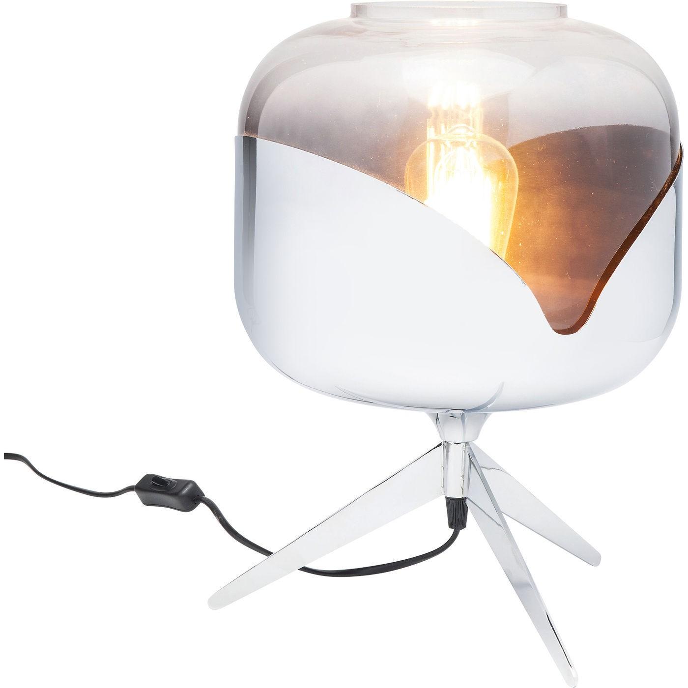 Lampe de table Goblet Ball chromée Kare Design