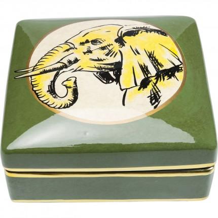 Boîte carrée éléphant 18cm Kare Design