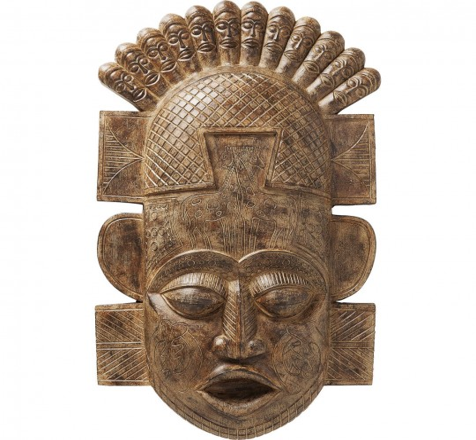 Déco murale masque africain 90cm Kare Design