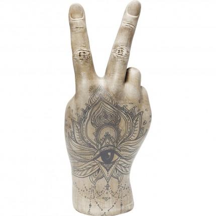Déco main V tatouage oeil 36cm Kare Design