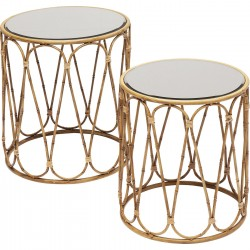 Tables d'appoint Bamboo Loop set de 2 Kare Design