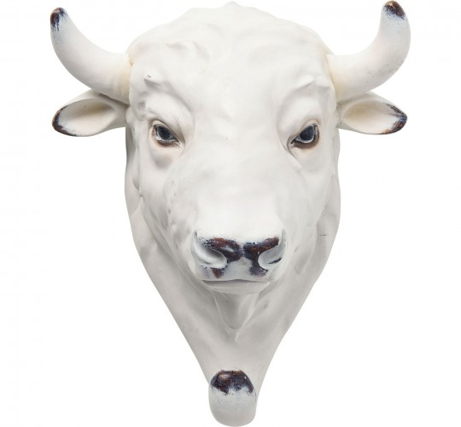 Portemanteau mural Vache blanche Kare Design