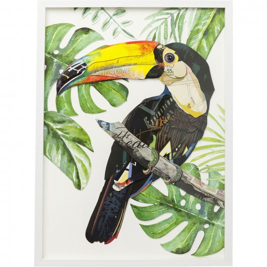Tableau Frame Art Toucan 70x50cm Kare Design