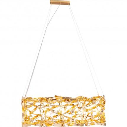 Suspension Streamers rectangulaire dorée Kare Design