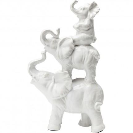Déco trio famille éléphants blancs Kare Design