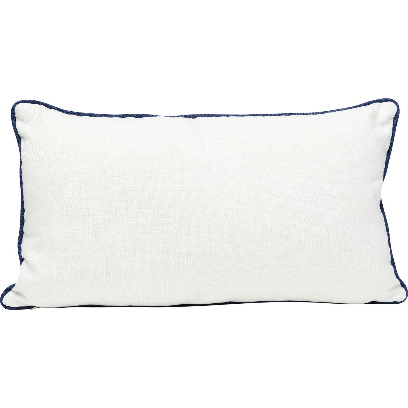 Coussin Classy blanc n?ud marin 28x50cm Kare Design