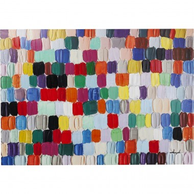Tableau Touched Colorful Dots 140x200cm Kare Design